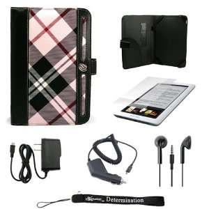 Pink Plaid Melrose Case with Screen Protector for Barnes