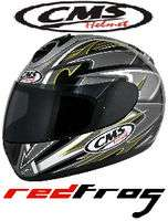 CMS GP5 Full Face Motor Cycle Bike Scooter Helmet Black
