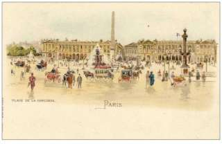 CPA 75 PARIS Place de la concorde animée Illustration