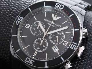 armani ea montre homme chronographe Black watch en céramique ar1421