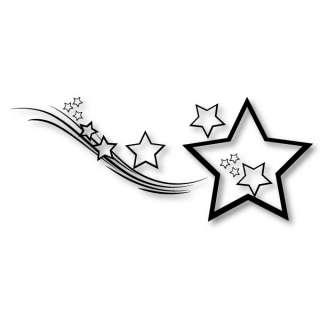 Stern mit Schweif** Car Tattoo Motiv Star Aufkleber Auto