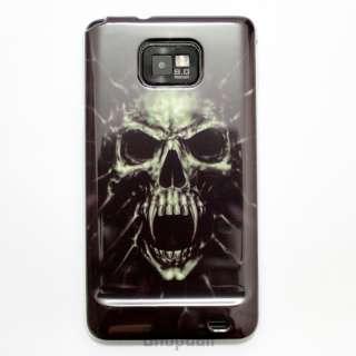 New Skull Plastic Hard Case Cover for Samsung Galaxy S2 i9100