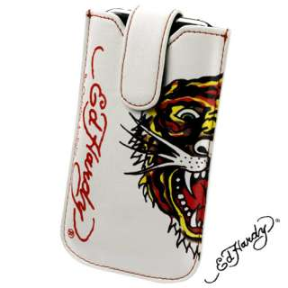GENUINE ED HARDY TIGER LEATHER CASE FOR HTC WILDFIRE S