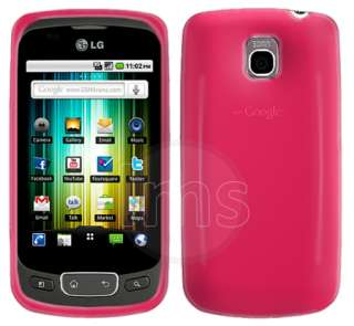 BABY PINK GEL CASE COVER SKIN FOR LG OPTIMUS ONE P500