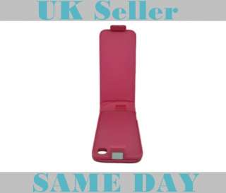PINK LEATHER FLIP CASE COVER POUCH for LG POP GD510