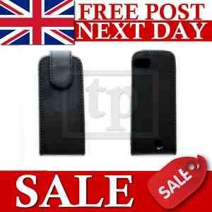 BLACK FLIP LEATHER CASE COVER FOR NOKIA C3 01 (C3 01)