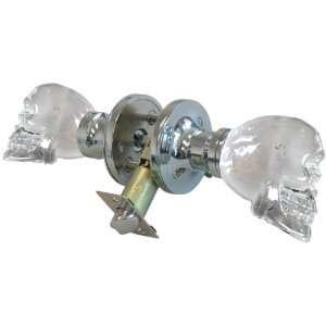 Krystal Touch of New York 3733CPR Skull Privacy Doorknob