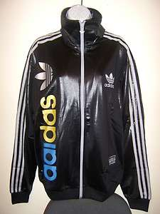 NEW ADIDAS CHILE 62 LINEAR TRACK TOP JACKET MENS WOMENS BLACK/SILVER