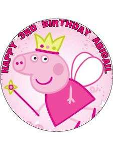Personalised Peppa Pig Princess Cake Top Topper