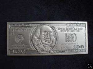 BRAND NEW 100 DOLLAR BILL BELT BUCKLE BLING ICED OUT