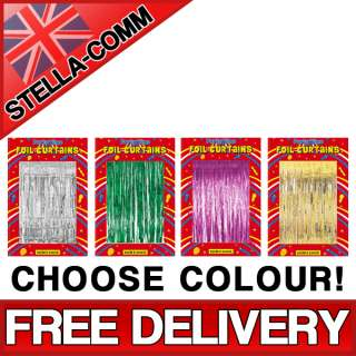 Shimmer Foil Door Curtain Christmas Party Decoration