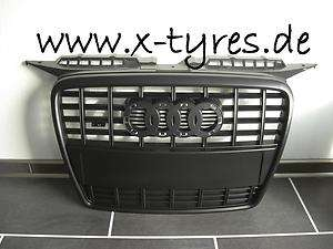 Audi A3 8P Sportgrill Kühlergrill Grill Emblem Schwarz S Line