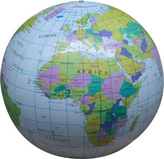 INFLATABLE GLOBE ATLAS WORLD MAP EARTH BEACH BALL