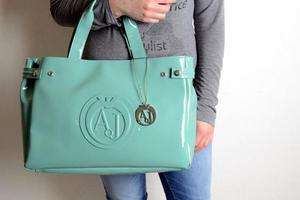 borsa Armani Jeans vernice donna handbag giada handtasche pytel