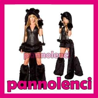 Costume carnevale donna GATTA NERA gattina gatto nero travestimento DL