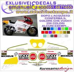 KIT ADESIVI DECAL CAGIVA MITO RACING LUCKY EXPLORER