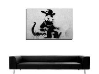 INSPIRING BANKSY GRAFFITI ART RAP RAT DEEP FRAMED WALL ART CANVASPRINT