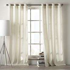Linen Cotton Grommet Window Panel – White +