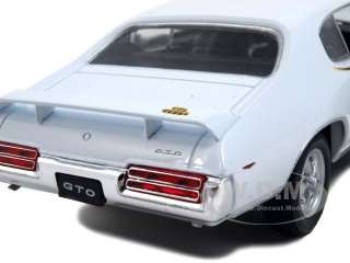 scale diecast model of 1969 pontiac gto judge white die cast car model