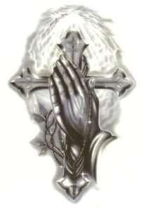 Oxalis Einmal Tattoo / Tattoos Tätowierung Betende Hände m Kreuz