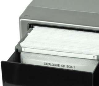 120 Disc Black and Silver CD / DVD Storage Box Case with Easy Touch