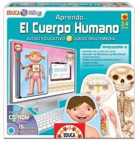 JUEGO EDUCATIVO APRENDER CUERPO HUMANO CON CD ROM