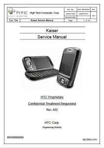 HTC Kaiser Factory Service Repair Manual 8925 ATT Tilt