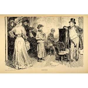 1906 Charles Dana Gibson Singer Audition Actress Print