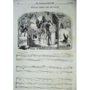 English Songs Melodies Music Score Sheet Charles Mackay