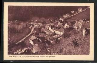 CPA Pfirt, Ortsansicht vom Schloss aus gesehen