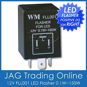 LED FLASHER RELAY UNIT for BLINKER / INDICATOR GLOBE POSITIVE ON RIGHT
