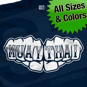 MUAY THAI Fist Knuckle Tattoo T Shirt All Sizes Colors