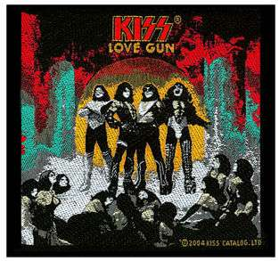 KISS Love Gun Official WOVEN PATCH NEW