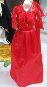 DM PRINCESS DIANA ROYAL WARDROBE COLLECTION RED GOWN