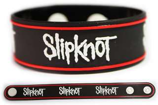 SLIPKNOT Rubber Bracelet Wristband White