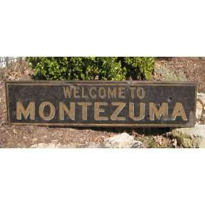 Welcome To MONTEZUMA, NORTH CAROLINA   Rustic Hand Painted