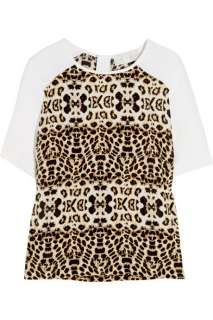 Lizzie animal print silk crepe top   50% Off Now at THE OUTNET