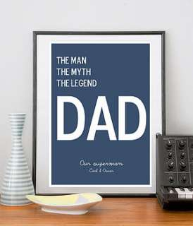 personal fathers day print or canvas by i love design