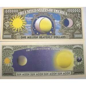 Set of 10 Bills Sun Moon Million Dollar Bill Toys & Games