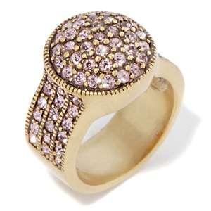 Heidi Daus Belgium Disc Crystal Accented Ring