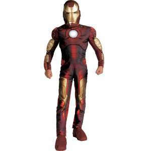 Iron Man 2008 Movie Light Up Muscle Chest Child Costume, 32921