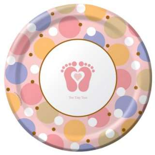 Tiny Toes Pink Dinner Plates (8 count)   Costumes, 71090