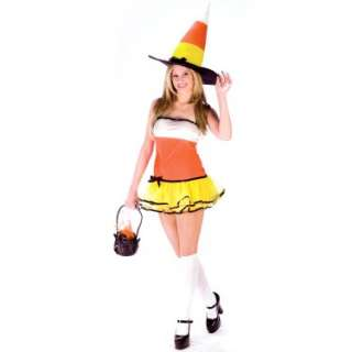 Halloween Costumes Candy Corn Witch Adult Costume