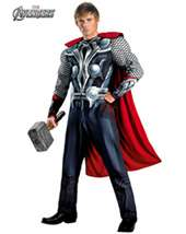 mens costumes   MENS CLASSIC MUSCLE AVENGERS THOR COSTUM