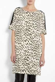 DKNY  Black Elbow Sleeve Animal Print Tunic Dress by DKNY