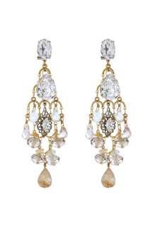Anton Heunis  Grace Kelly Crystal Chandelier Earrings by Anton Heunis