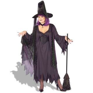 Mystic Witch Plus Adult Costume   Includes black dress with shimmer