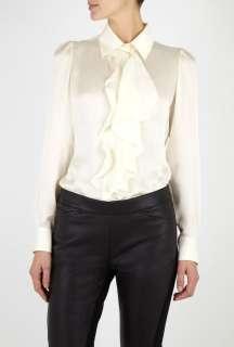 Moschino Cheap & Chic  Washed Silk Ruffle Blouse by Moschino Cheap