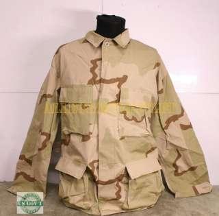 US Military Army DCU Desert BDU COMBAT UNIFORM SHIRT Ripstop L/S NEW