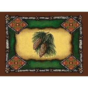 Pine Cone Lodge Tapestry Placemats Kitchen & Dining